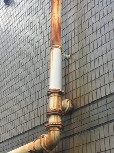 排管の錆び
